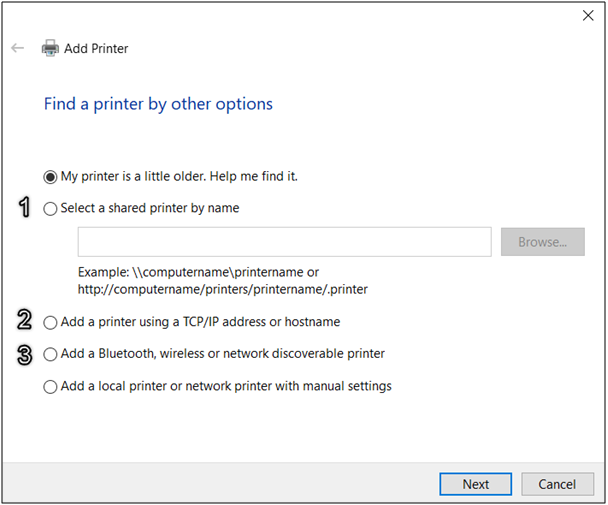 HOW TO CONNECT TO A SHARED PRINTER IN WINDOWS 10