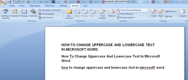 How to Change Uppercase and Lowercase Text in Microsoft Word